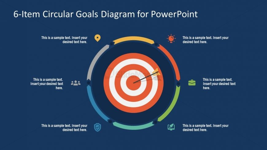 PowerPoint Step 6 Circular Goals Slide