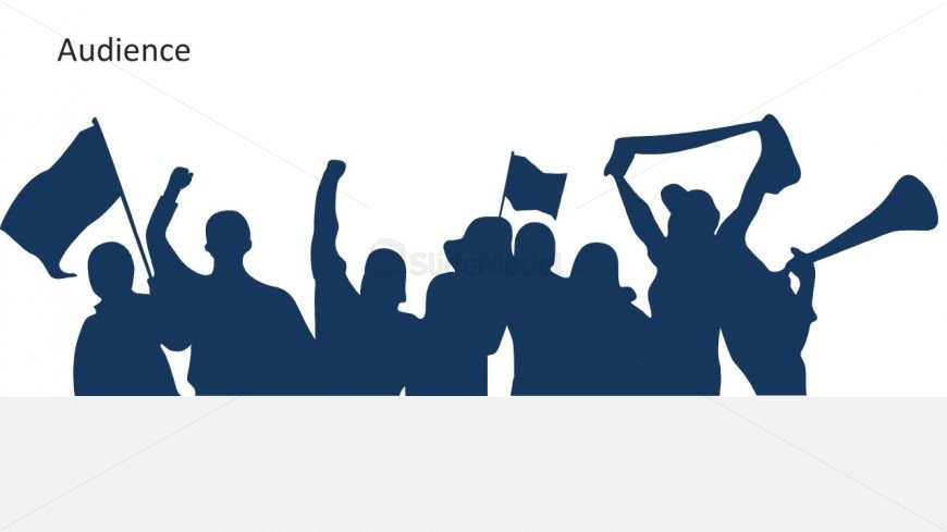 PPT of Cheering Crowd Template