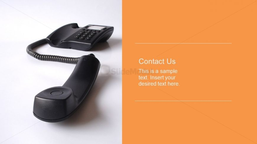 Contact Information Slide Template