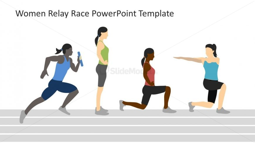 PowerPoint Racing Template for Women