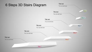 3D Stairs Diagram PowerPoint
