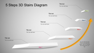 Process Steps Diagram With 3D PowerPoint Effects