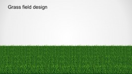 Grass Field Pathway PowerPoint Design Template