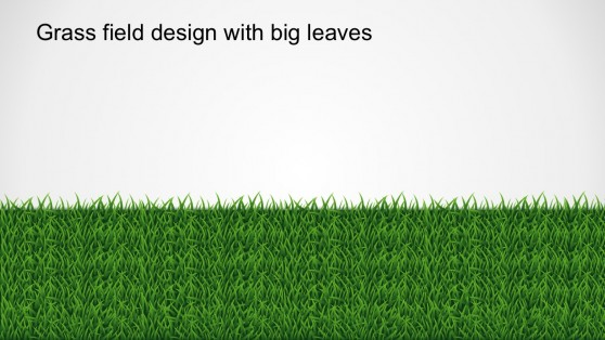 Cool PowerPoint Shapes Grass Chart Concept