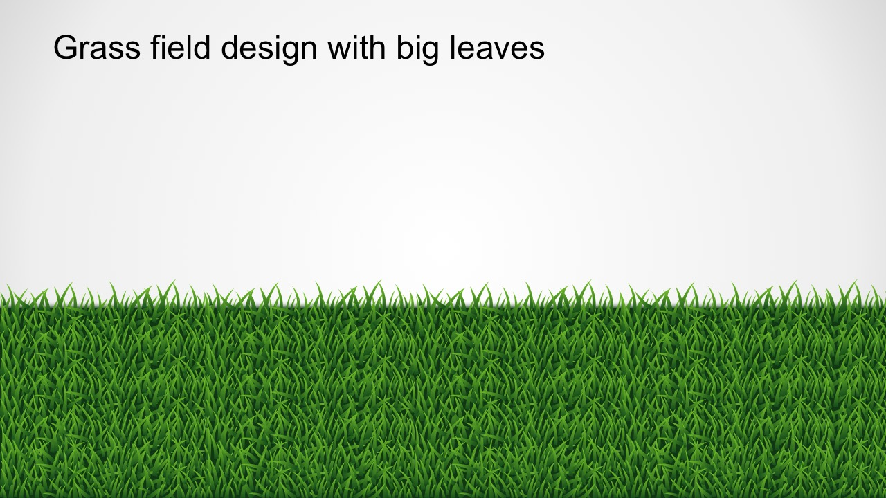 yes or no grass pathway powerpoint template, Modern powerpoint