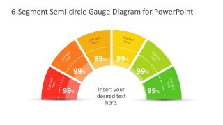 Diagram Template of 6 Segments Radial Gauge