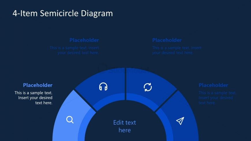 Editable PowerPoint Semi-Circle Diagram