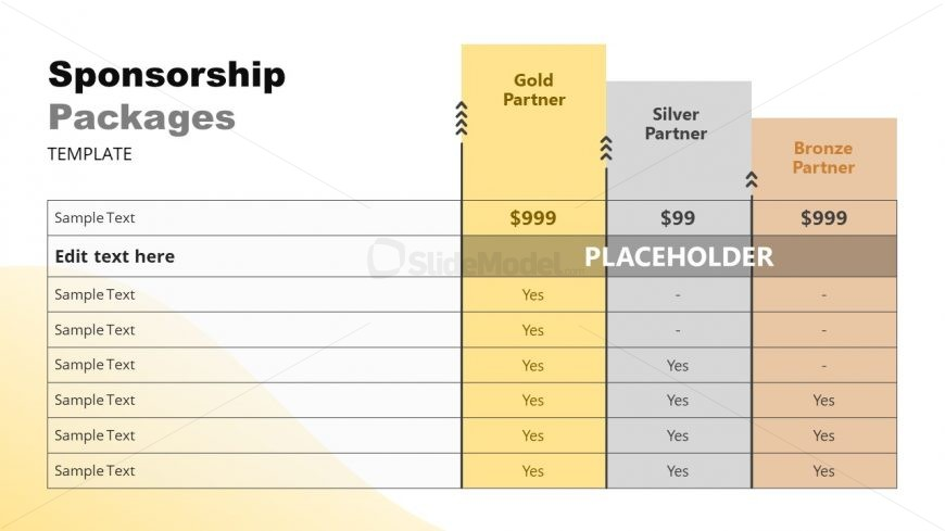 Pricing and Plans Template for Sponsors
