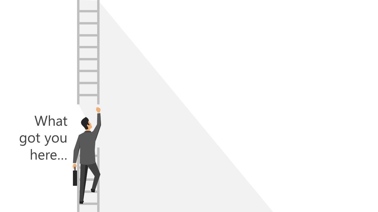 Presentation of Man Climbing the Ladder