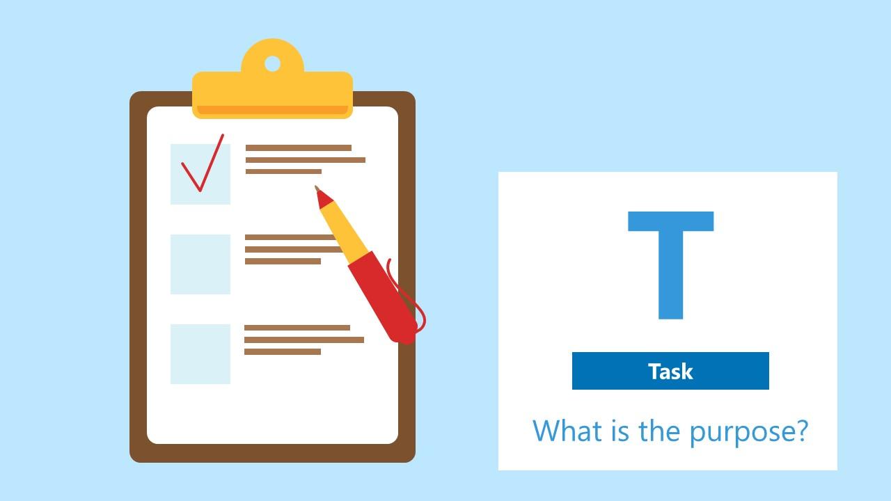 PowerPoint Diagram Task STAR Technique