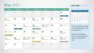 2021 Calendar Powerpoint Template Slidemodel