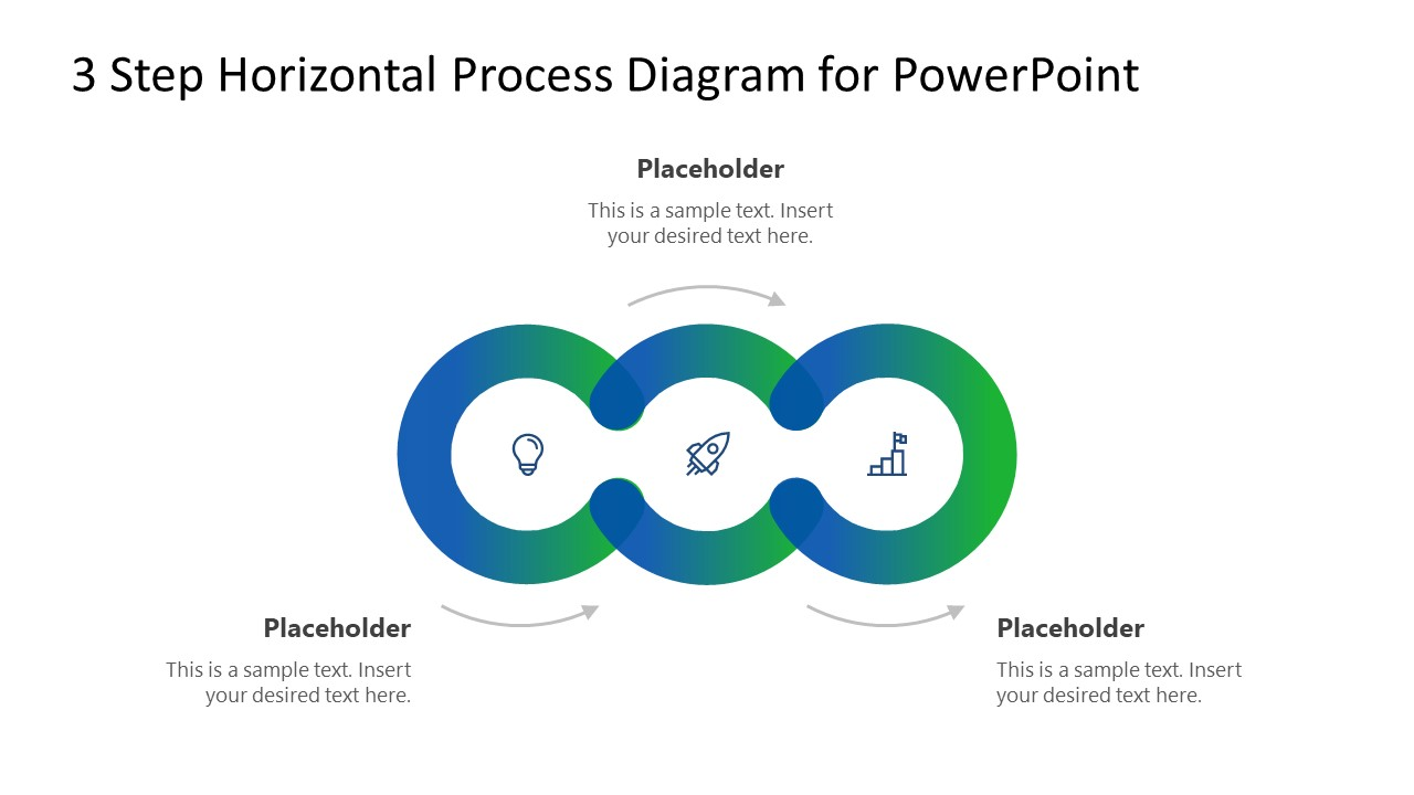 Circular Diagram 3 Steps PowerPoint