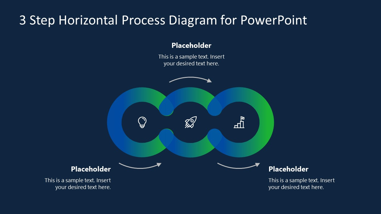 PPT Circles Process Horizontal Diagram