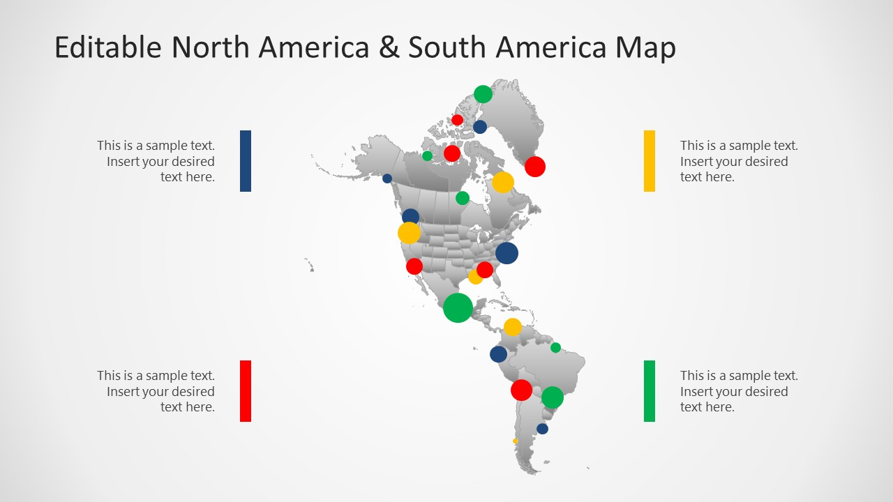Continent of North America and South America