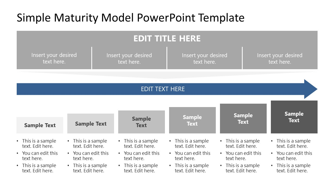 Flat PowerPoint Shapes for Maturity Model