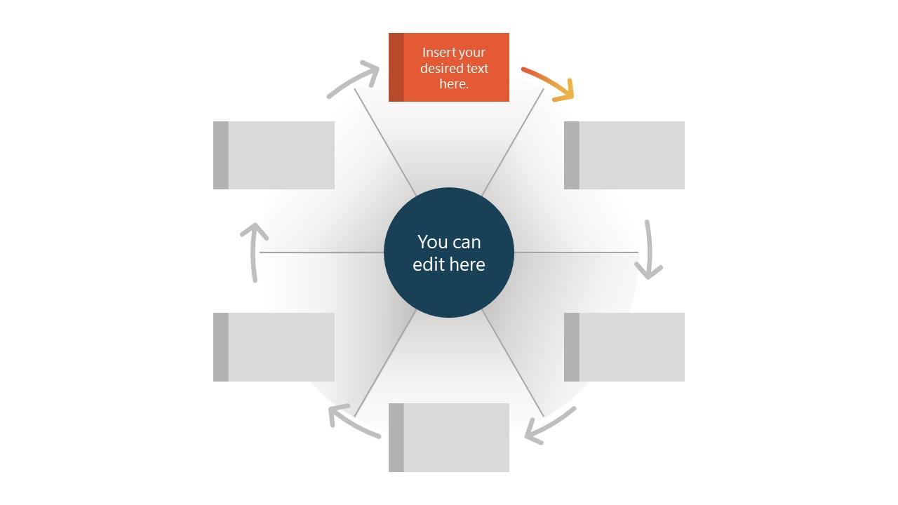 6 Steps Circular Wheel Diagram