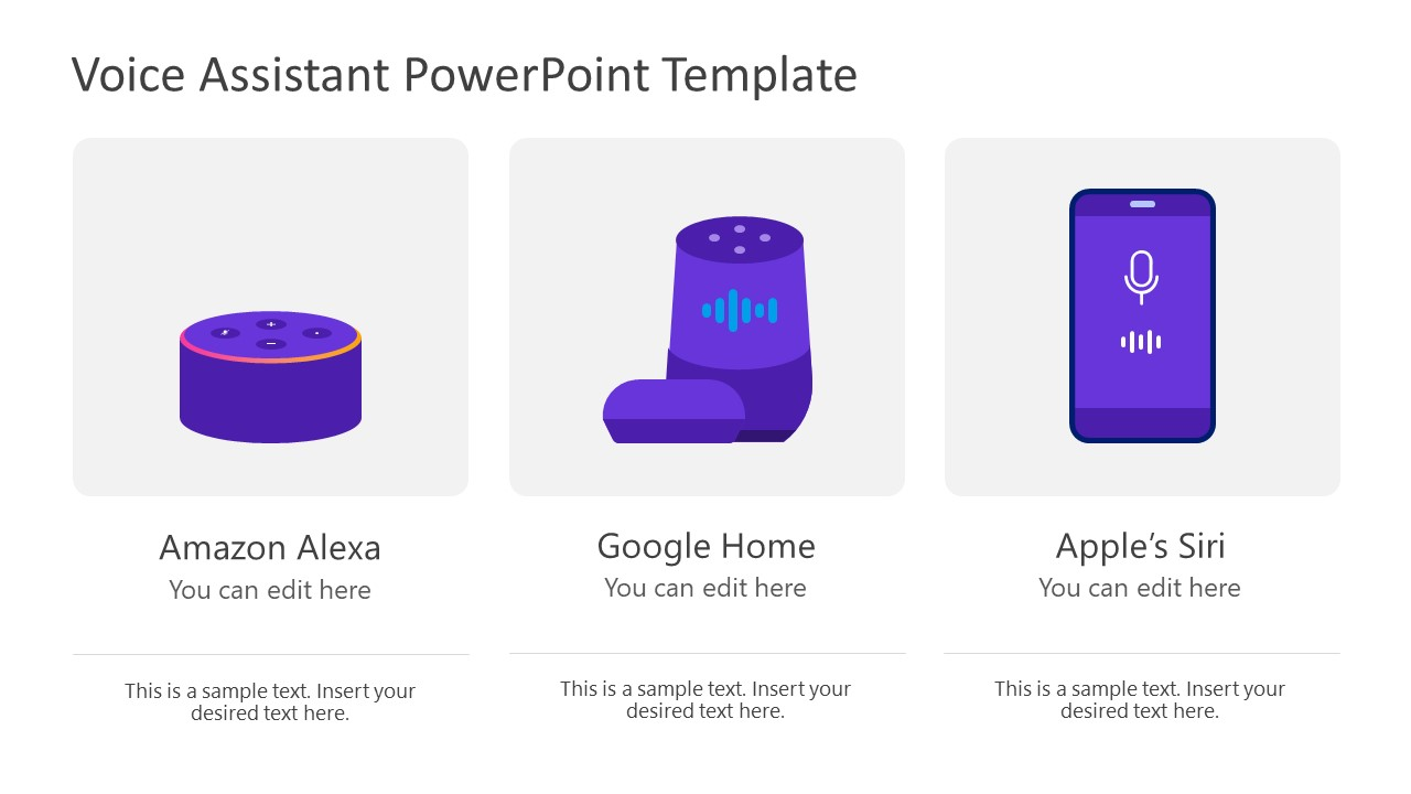 PPT Voice Assistant Devices Layout