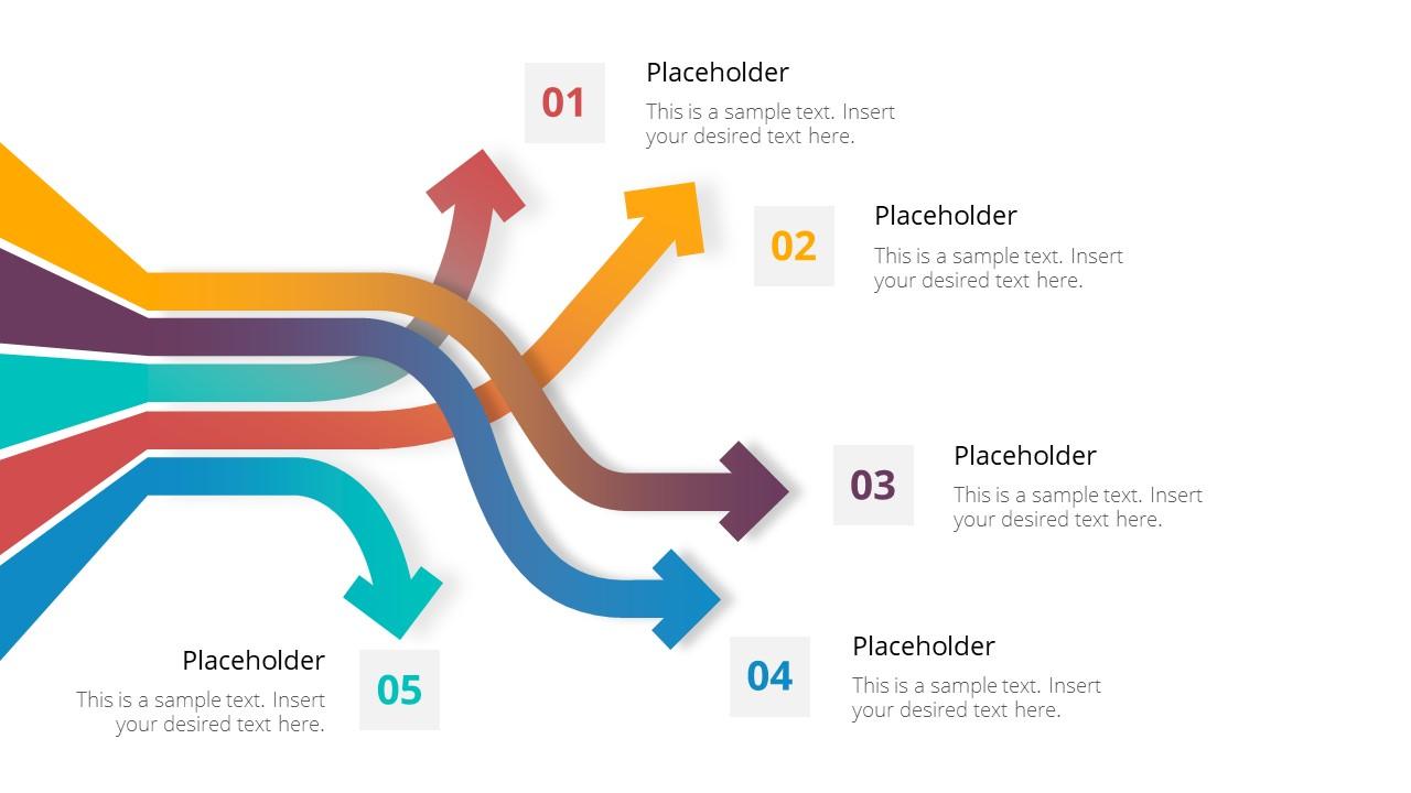 5 Steps Agenda Diagram Directional Arrows