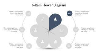 Editable PowerPoint Step 1 Flower Diagram