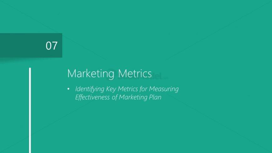Marketing Metrics Chapters PowerPoint