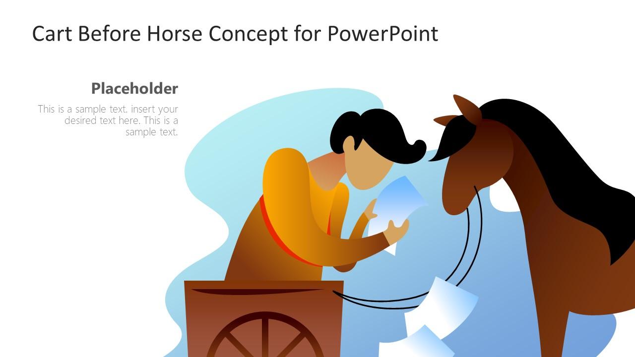 Cart before Horse Illustration