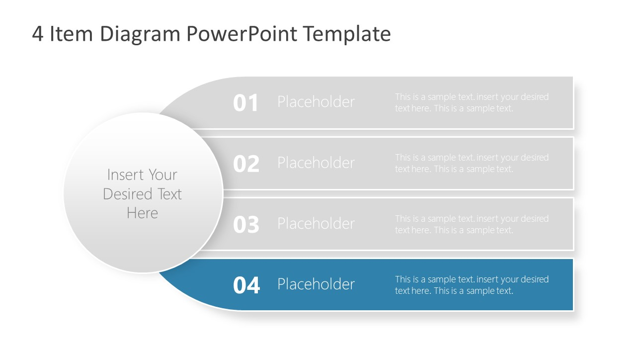 PowerPoint Diagram Template 4 Items