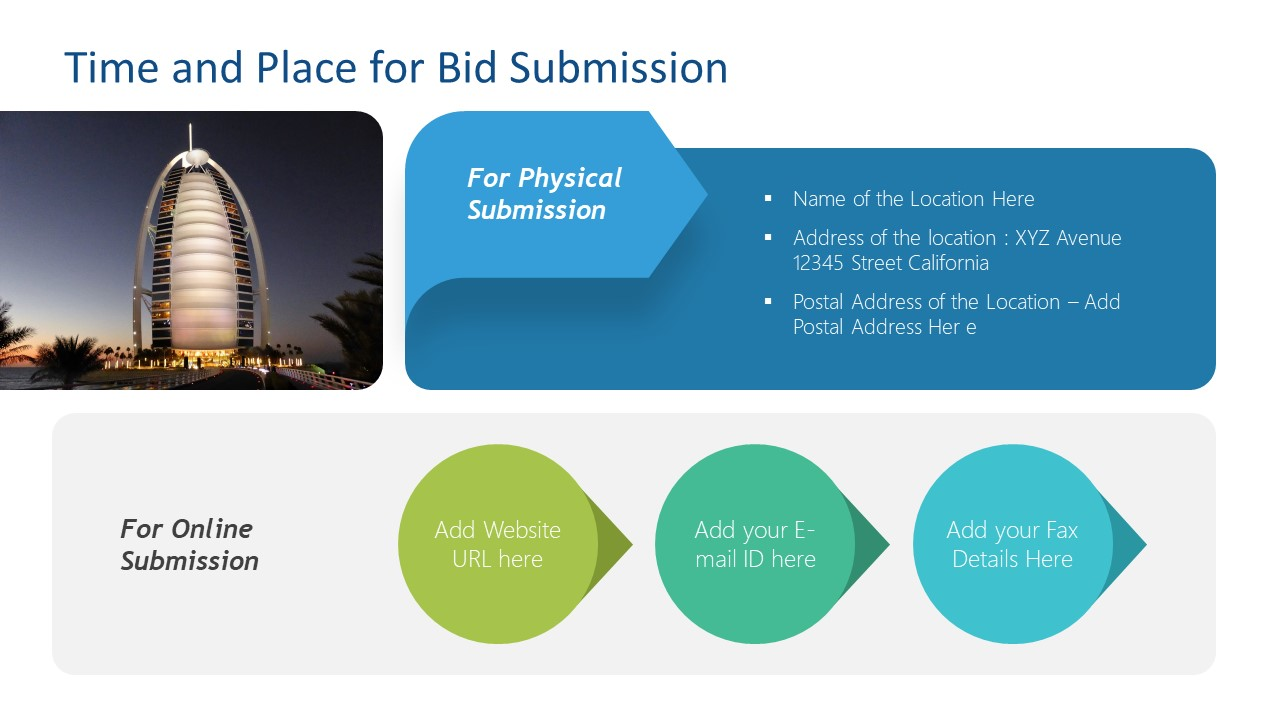 PowerPoint Time and Place Template for RFP