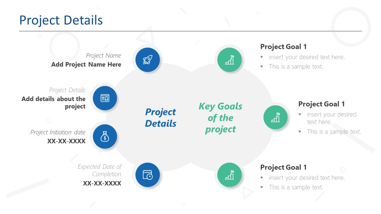 Key Goals of Project in PowerPoint