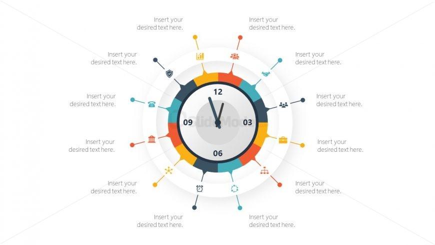 Analog Time Infographic Illustration PPT