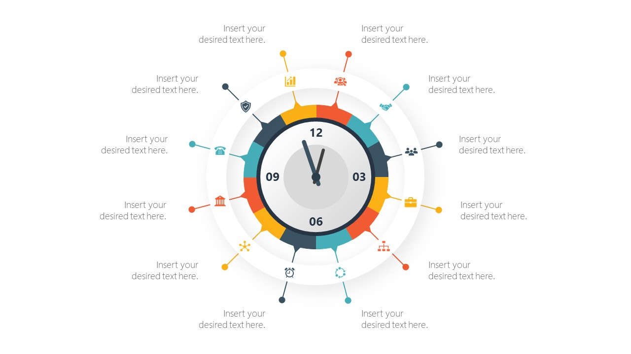Analog Time Infographic Illustration PPT
