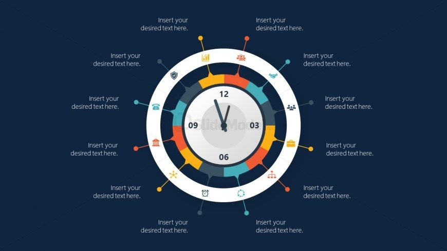PowerPoint Time Infographics Diagram