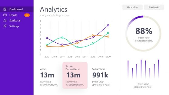 Data Curve And Charts For Powerpoint