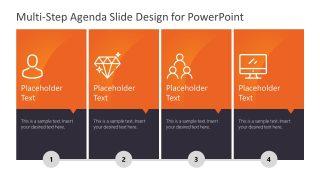 Vertical Presentation Agenda in 4 Steps
