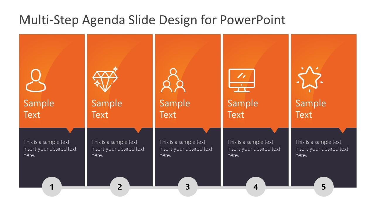 Vertical Presentation Agenda in 5 Steps