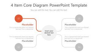 Presentation of 4 Items Highlight Step 1