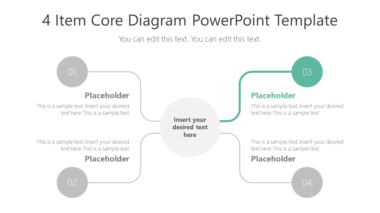Presentation of 4 Items Highlight Step 3