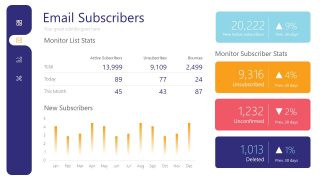 Presentation of Email Subscribers Dashboard