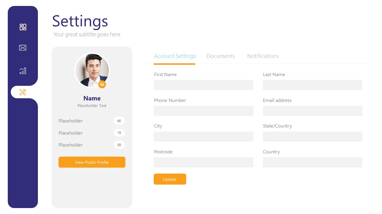 Business Profile Dashboard Templates