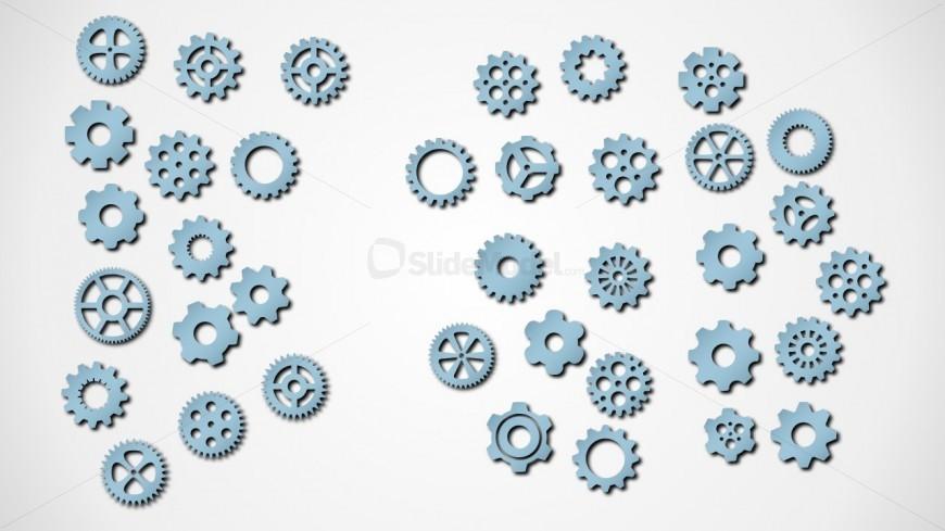 Attractive Gear PowerPoint AutoShape Design