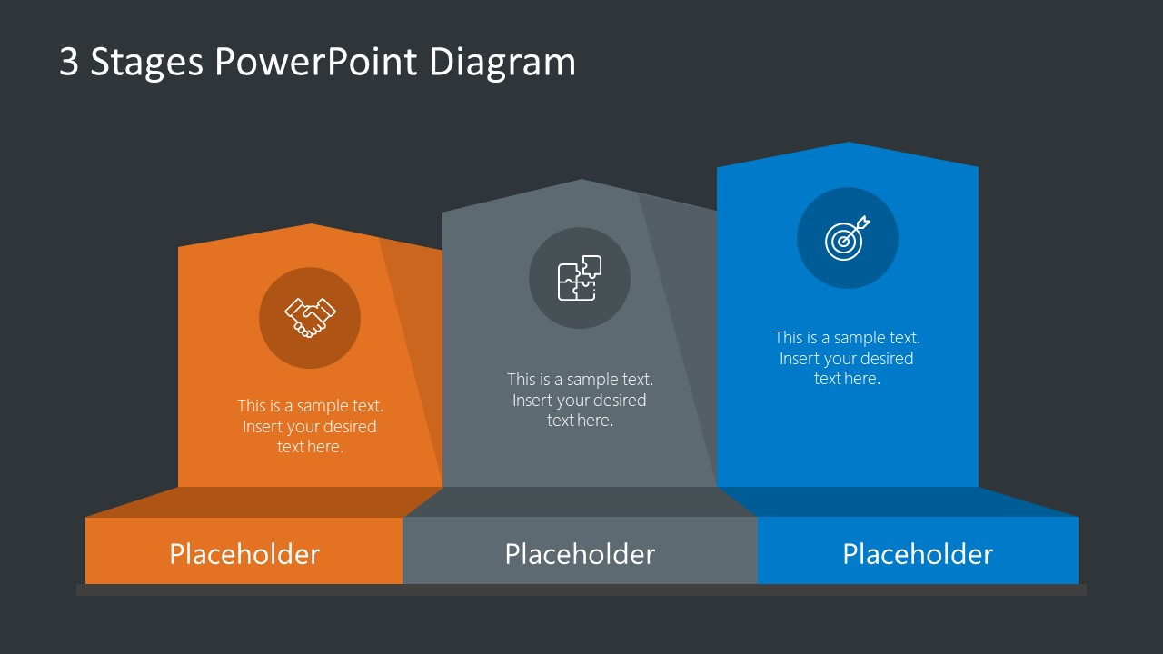 PPT 3 Level Infographic Diagram Template