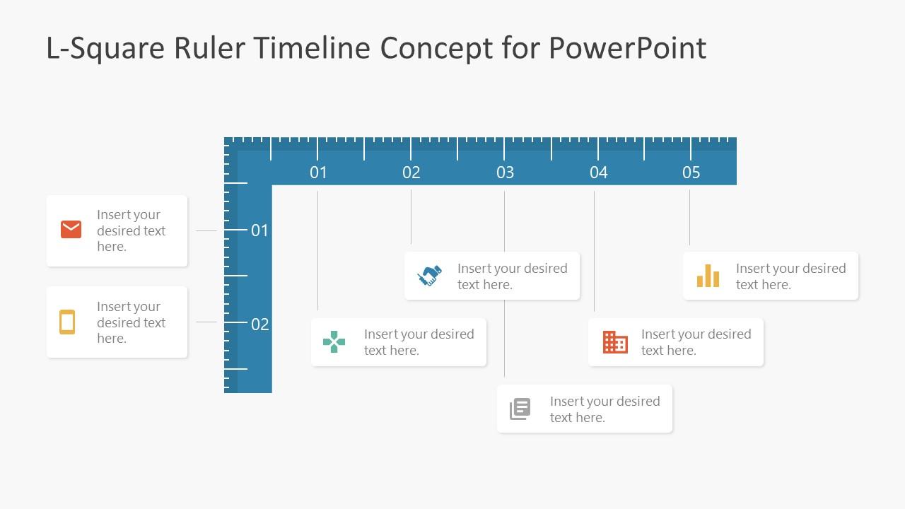 Ruler Shape Timeline Template
