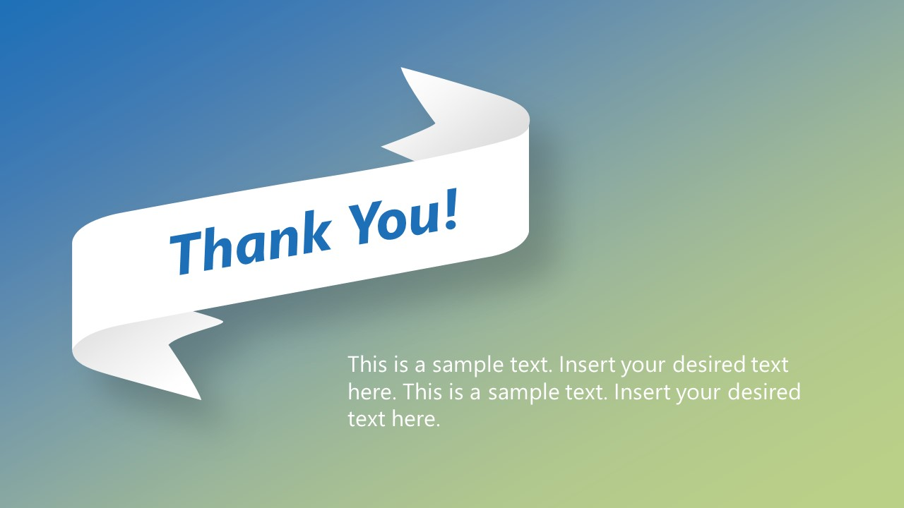 Creative Thank You Slide in PowerPoint