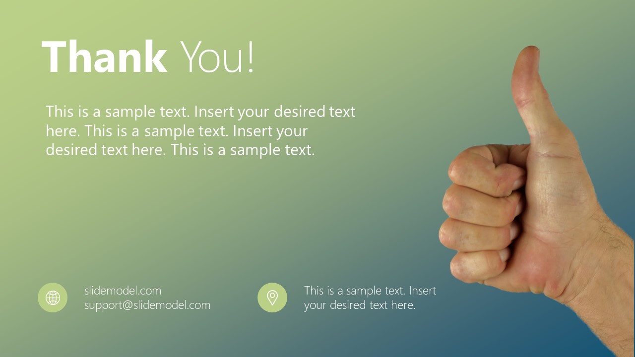 Template of Thank You Images PPT