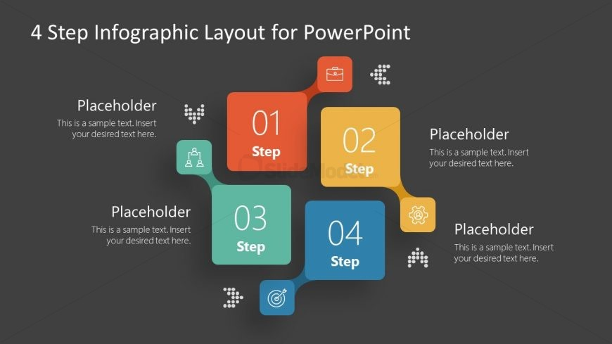 PowerPoint Infographic Diagram of 4 Elements