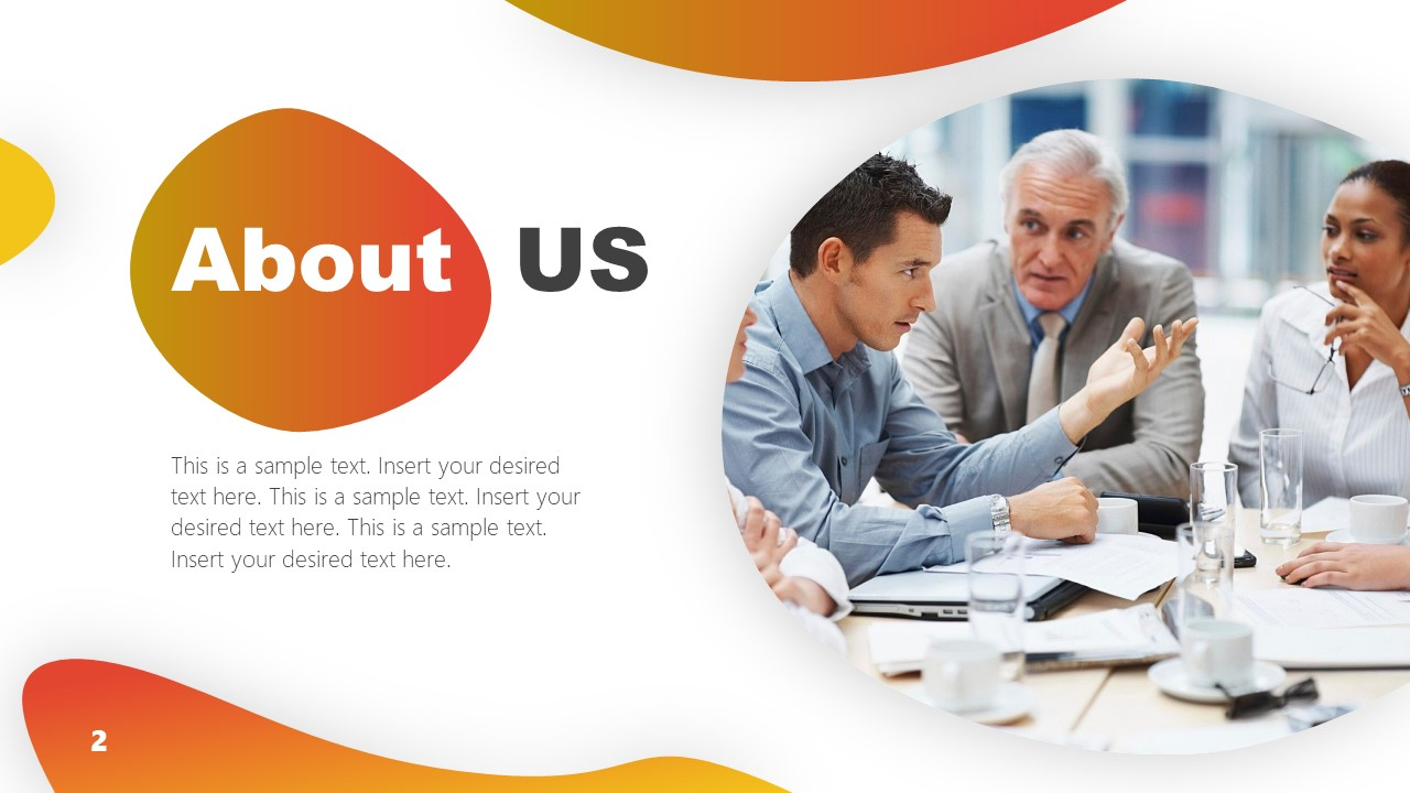 PowerPoint Business About Us Page Template
