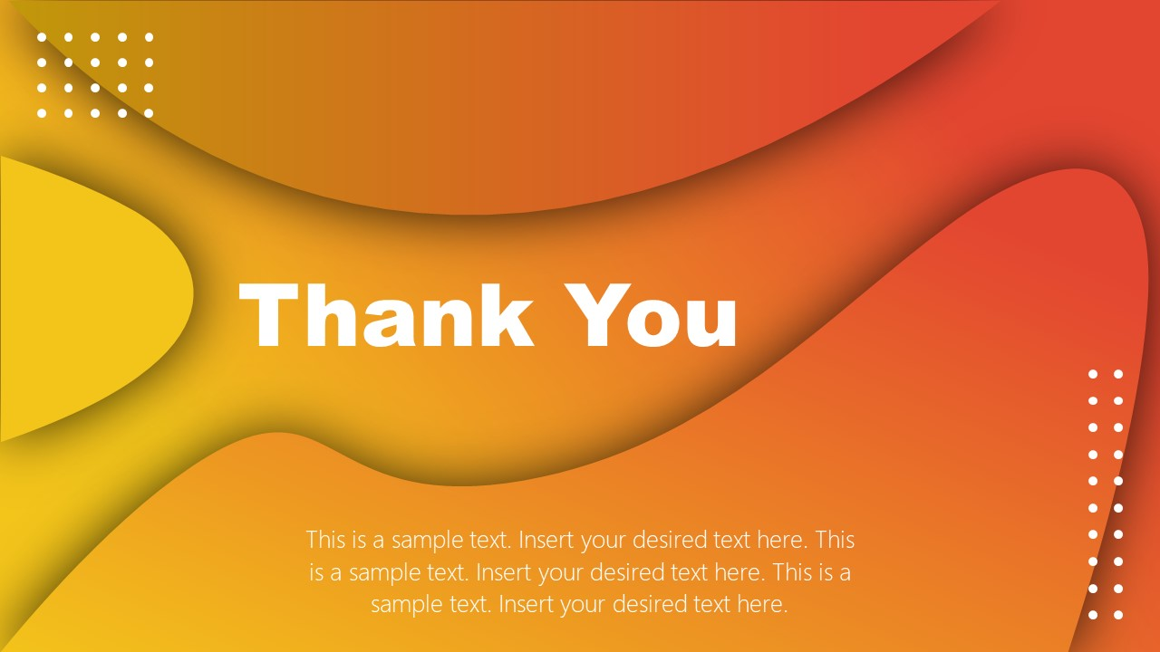 PowerPoint Business Thank You Note Template