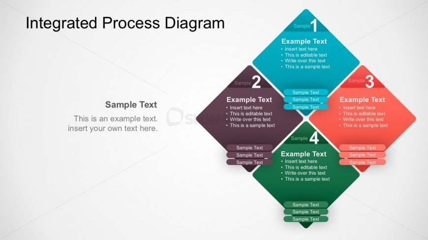 4 Steps Integrated Process Business PowerPoint