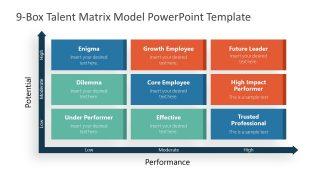 Matrix Model Diagram for Talent Review