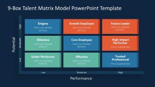 Presentation of Talen Matrix in 9 Box Grid