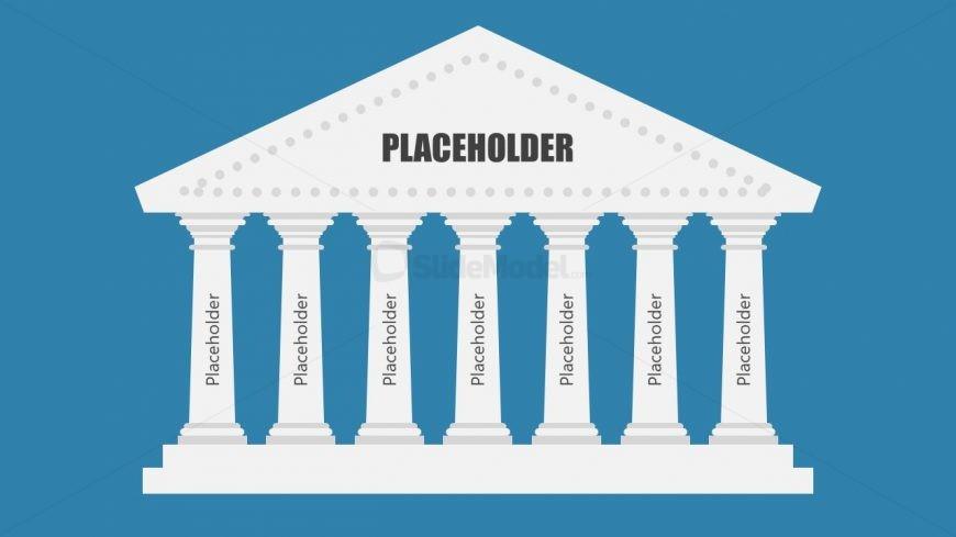 Slide of 7 Steps Diagram with Pillars